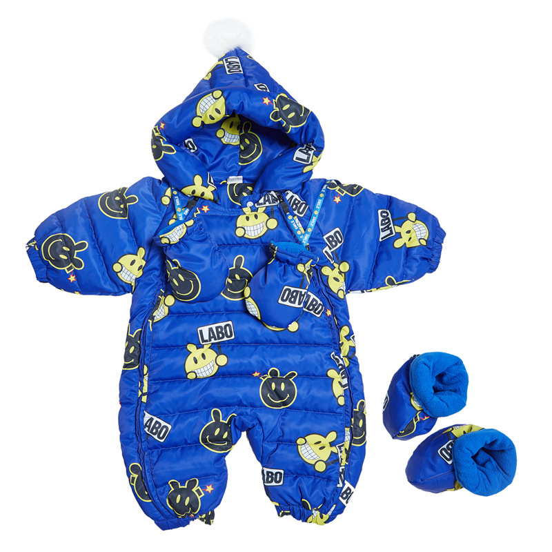 TBwish Children Newborn Winter Rompers Duck Down Jumpsuit Kids Boy Girl Clothing Baby Clothes Snow Wear Thicken Warm Overalls 3 8y russia winter rompers duck down jumpsuit kids clothing baby clothes snow wear boy girl snowsuit warm coveralls suit r05