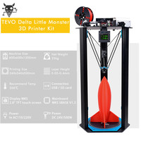 TEVO Little Monster Delta Aluminium Extrusion 3D Printer Kit Delta 3D Printer Large Printing Area OpenBuilds