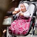 Ребенка спальный мешок зима теплая тележка бамбуковое волокно ребенка одеяло новорожденный конверт детские коляски муслин пеленать
