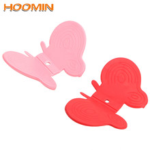 HOOMIN Oven Baking Insulation Pad Colors Random Kitchen Scald Proof Gloves Butterfly Silicone Clip Oven Mitts Fridge Sticker(China)