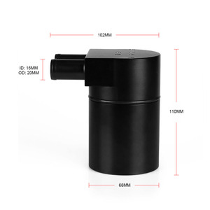 Image 3 - RASTP Hot Selling Black Aluminum Oil Catch Can Tank With Radiator Silicone Hose For BMW N54 335i 535i RS OCC016