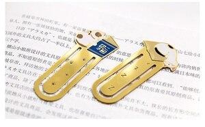Image 5 - 12 sztuk/partia Metal żelaza zakładki do książek Cute cat zakładki spinacz biurowe akcesoria biurowe szkolne A6130