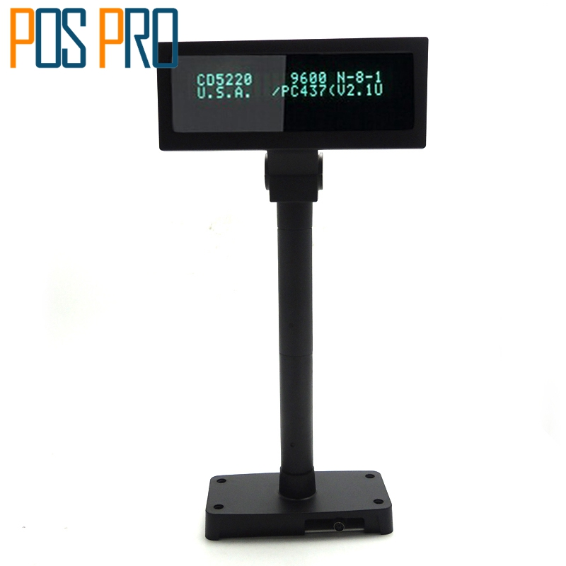 IVFD01 Customer POLE DISPLAY VFD 2*20 With RS PORT in Pos System For Supermarker and Restaurant Show Order Details