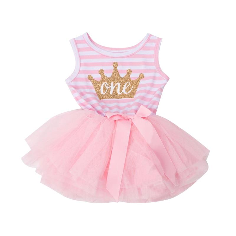 Casual Pageant Wedding Christening Newborn Dress Crown Pattern First ...