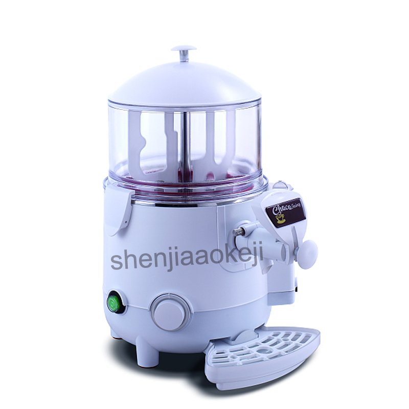 Commercial Chocolate thermostat machine Electricity heating machine Household hot drinks chocolate coffee dispenser 5L 220v 1PC xeoleo fructose machine 8 5l 16 grid quantitative machine automatic fructose dispenser syrup dispenser fruit sugar machine
