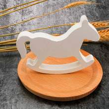 Wooden Rocking Horse Nursery Toddler Playroom Baby Rocker Kids Toy White Wooden Small Rocking Horse Balance Home Decor(China)