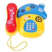 Гриб пластиковый телефон игрушка Дети Раннее образование подарок с музыкой светильник милый телефон игрушки детские игрушки