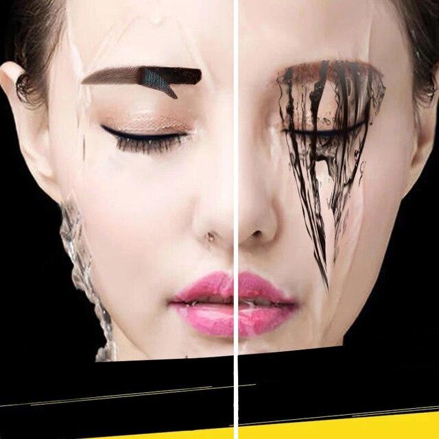 3 Colors Peel Off Henna Eyebrow Gel Brown Color Make Up Natural Long Lasting Waterproof Eye Brow Tattoo Tint Eyebrows Enhancer 4