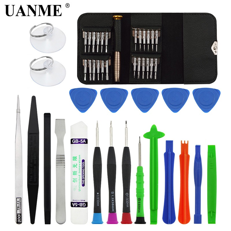 UANME Mobile Phone Repair Tools Kit Spudger Pry Opening Tool Tweezer Screwdriver Set