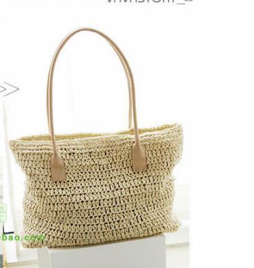 8f39cd9b054d 42x30 см плечо мешок соломы Для женщин сумка телесного цвета Цвет Бумага  веревку крючком мешок колонке
