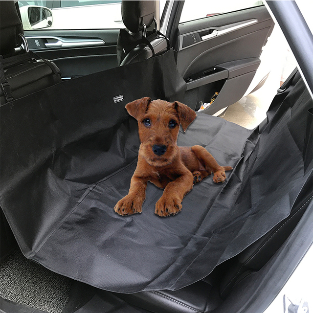 Pet Car Seat Covers Oxford Waterproof Portable Folding Back Bench ...
