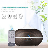 550mL Electric 7 Colors LED Lights Aromatherapy Mist Maker Ultrasonic Humidifier Air Purifier Essential Oil Aroma