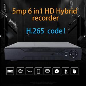 Image 3 - Jvtsmart AHD DVR 4 ערוץ 8 ערוץ H.265 5mp n 4mp n היברידי וידאו מקליט CCTV AHD CVI TVI אנלוגי IP אבטחה 1080 P 4CH 8CH xm