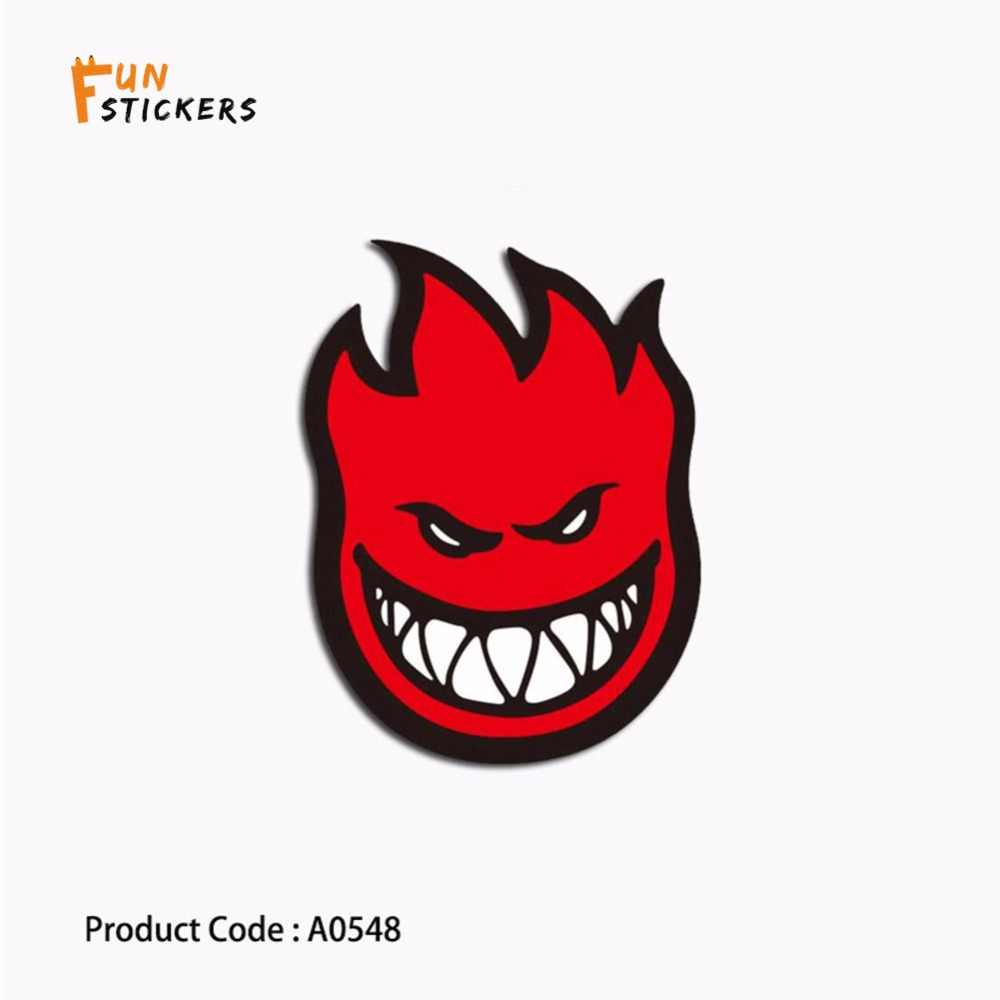 Red flame horror character tooth evil smile cartoon waterproof sticker toy  laptop phone guitar skateboard luggage sticker A0548