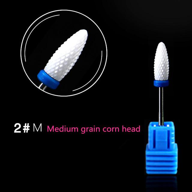 1pcs Ceramic Nail Drill Bit For Pedicure Machine Electric Bits Manicure 2.35mm Nail Tools Remove Acrylic Gel Nail Polisher Head