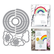 Eastshape Rainbow Clouds Circle Metal Cutting Dies Scrapbooking Semicircle For Card Making DIY Embossing Cuts Craft New