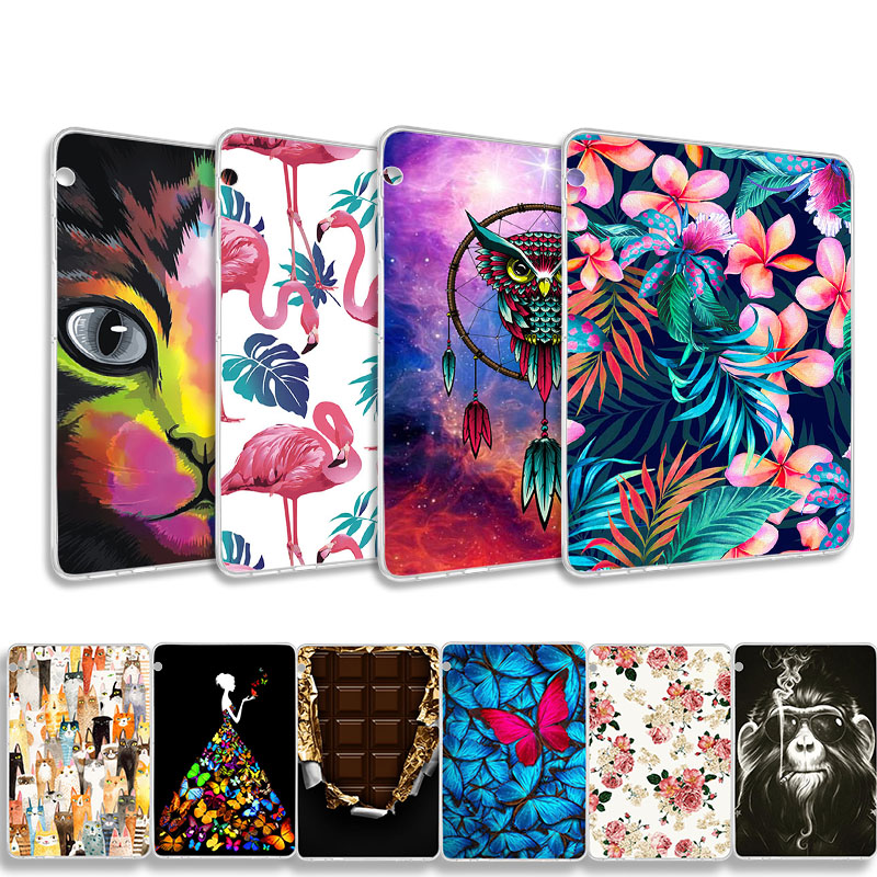 DIY Patterned Tablets Case For Huawei Mediapad T5 AGS2-W09/L09/L03/W19 10.1 Inch Silicon Soft TPU Case