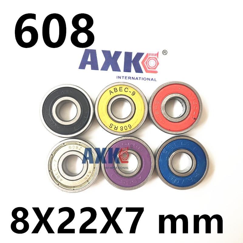8X22X7mm Chrome Steel Miniature Ball Bearings 608-2RS ABEC-7 ABEC-9  608 for Inline skates bearing Skateboard Scooters 608ZZ 1pcs 71901 71901cd p4 7901 12x24x6 mochu thin walled miniature angular contact bearings speed spindle bearings cnc abec 7