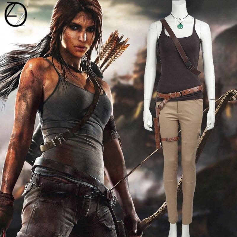 240950962 € 14.06 49% de DESCUENTO|Tomb Raider ara Croft cosplay disfraz de juego  caliente Cosplay larta Croft disfraces Sexy carnaval disfraz de Halloween  ...