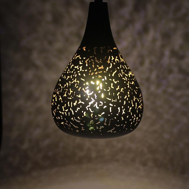 Vintage Pendant Light Nordic Porous Loft E27 LED Iron Etching Lampshade Bar Restaurant Lamp Creativity Style Rust Pendant Lamp 2