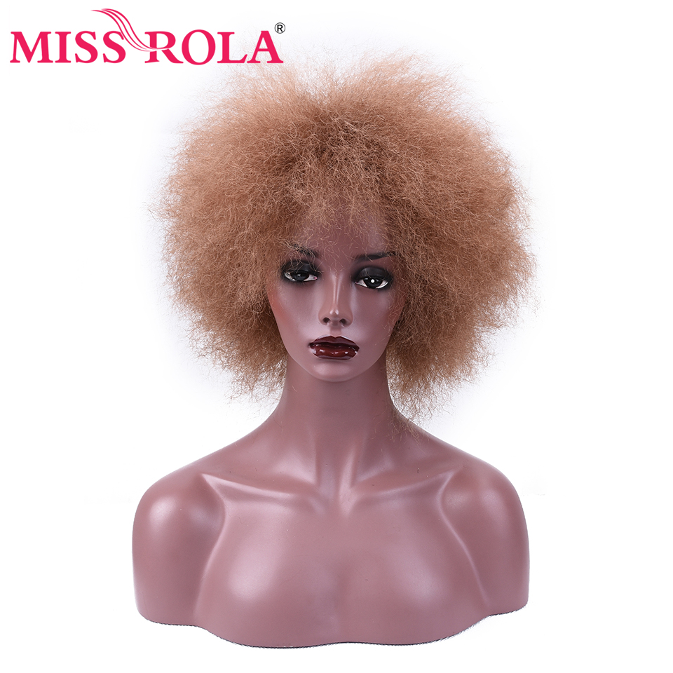 Miss Rola Synthetic Hair Wig Afro Wig For Black Women Kanekalon Short Hair Wig 90g 6Inches