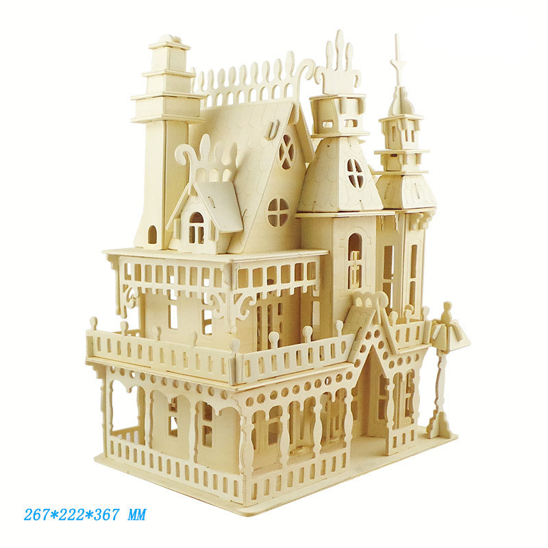wooden Dollhouse Miniature furniture <font><b>toy</b></font> DIY assembly dolls <font><b>house</b></font> mini doll <font><b>house</b></font> <font><b>for</b></font> <font><b>girls</b></font> gifts children 3D puzzles <font><b>toys</b></font> image
