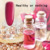 TREEINSIDE Verde puro natural y seguro nail gel polaco-Rose extrajo necesidad polaco led uv lámpara para curar seguro verde saludable marca