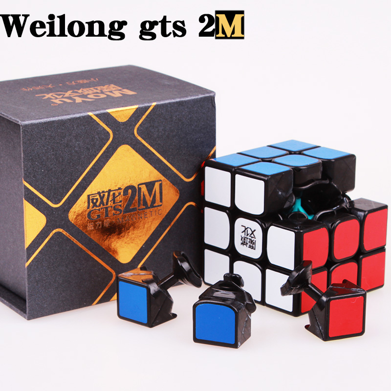MOYU Weilong GTS 2 m 3x3 Magnétique Vitesse Cube GTS 3 m Professionnel Stickerless Puzzle Moyu Cube gts2m aimants Neo Cubo Magico GTS3