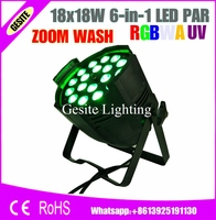 2pcs Lot High Brightness 18 Pieces 18 Watt 6in1 Led Par Zoom Nightclub Lighting Slim Led