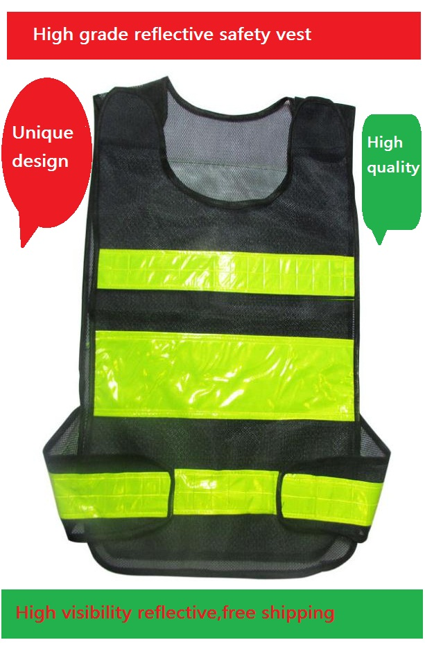 High Visibility Traffic Highways Sanitation Reflective Safety Vest With PVC Reflective