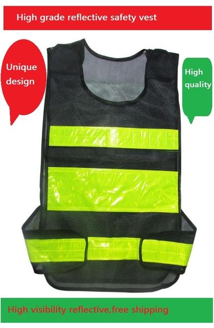 Ropa reflectante Saneamiento Chaleco Reflectante de Seguridad de Tráfico de la Policía de Carreteras de Alto grado