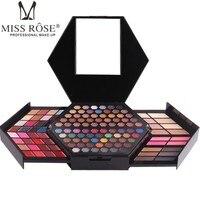 MISS ROSE Professional Makeup Kit Matte Shimmer Eyeshadow Highlighter Face Powder Concealer Blusher Cosmetic Palette