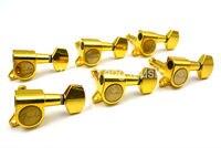 זהב/כסף אותיות חשמלית מגולפת גיטרה כוונון מקלט רדיו יתדות מכונת משלוח חינם Wholesales 6R קו ראש 6 ב