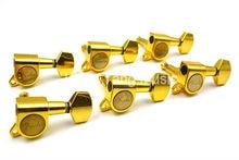 Letras de oro Tallado Guitarra Eléctrica Clavijas de Afinación Sintonizadores Machine Head 6R 6 en Línea Envío Libre Al Por Mayor