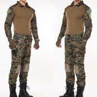 Forêt Jungle Camouflage chasse vêtements armée uniforme hommes Camo Airsoft Sniper tactique chemise pantalon Combat BDU costume militaire