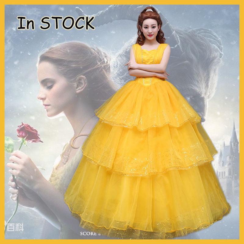 2017 movie beauty and the beast costumes belle dress