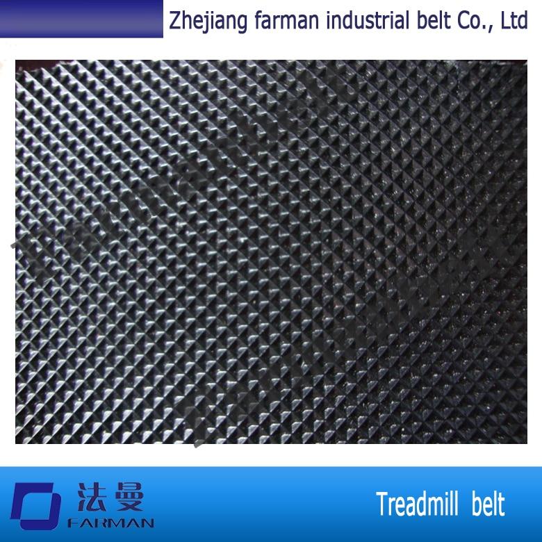 Most wearable treadmill walking belts pvc conveyor belts grass pattern rough surface green pvc skid conveyor belts