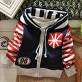 Новый свитер для малышей осень/зима детская одежда модный полосатый кардиган для мальчиков 3 размер 2 - 4 т