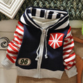 New kids autumn/winter wear Children sweater kid's casual sweater fashion striped sweaters baby boy's cardigans 3size for 2-4T