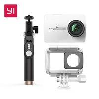 YI 4 K Экшн камера черно белая международная версия Ambarella A9SE Cortex A9 ARM 12MP CMOS 2,19 155 градусов EIS LDC wifi