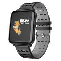MKS Smartwatch IP67 wodoodporne urządzenie do noszenia na ciele Bluetooth krokomierz z pomiarem akcji serca Monitor kolorowy wyświetlacz inteligentny zegarek dla androida/IOS