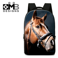 Dispalang 3D horse head print backpacks college students laptop backpack fashion school bags for teenagers cool bagpack mochilas