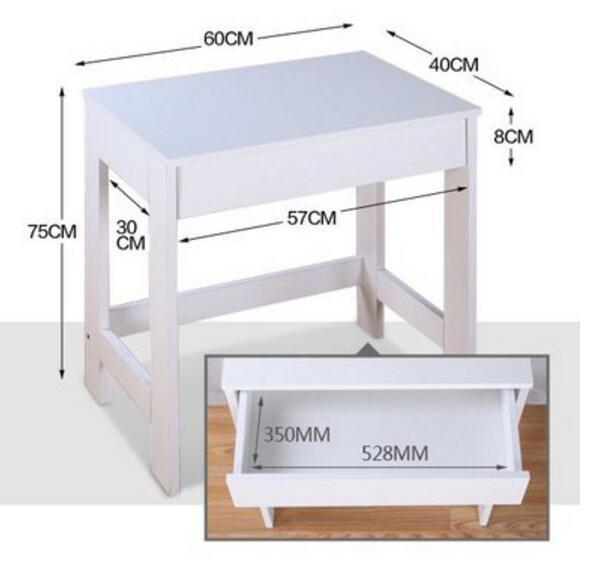 60*40*75cm Children's writing desk Study desk laptop desk with drawer Kids's Furniture