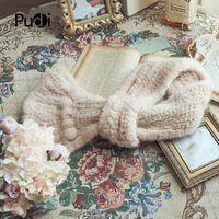 SCM061 The new winter Women's scarf real mink fur scarf band new warm mink fur knitted knit scarves wraps