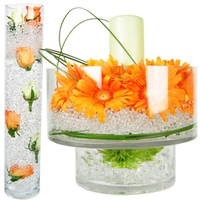 100 000pcs Colorful Magic Pearl Vase Filler Shaped Crystal Soil Water Beads Mud Grow Jelly Balls
