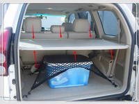 Black Beige Car Rear trunk Parcel Shelf Cargo Cover For Toyota Prado FJ120 2003 2009 Auto accessories car styling