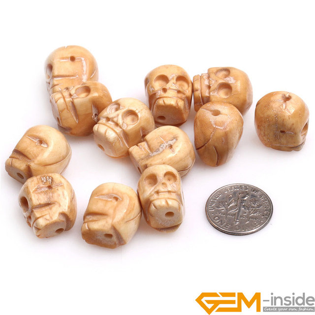 15x16mm Big Hole 1 2mm Carved Bone Skull Beads For Jewelry Making Bulk 12 Pcs For Gift Free Shipping Skull Beads Beads For Jewelry Makingbeads Free Shipping Aliexpress