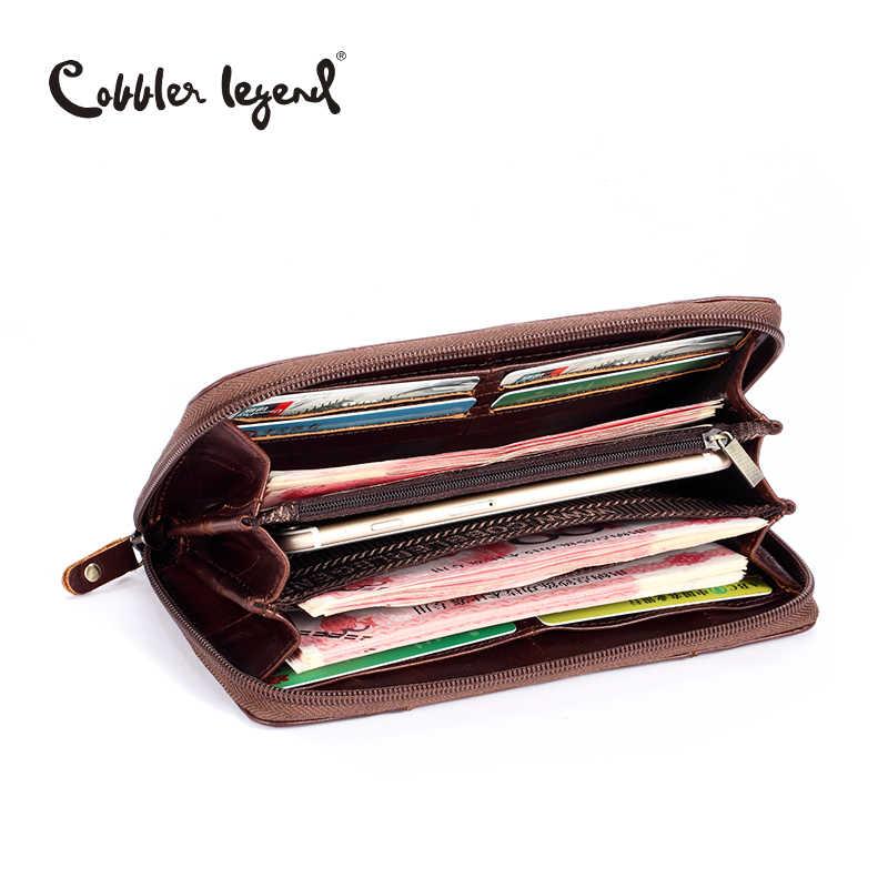 Cobbler Legend брендовый дизайнерский Повседневный Женский кошелек из натуральной кожи Длинный кошелек для дам кошельки для карт и монет для женщин карман для монет