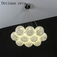 Modern minimalist creative LED chandelier restaurant bedroom bar restaurant personalized art sphere Chandelier free shipping
