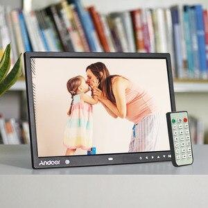 Image 4 - Andoer 15 Cal duży ekran LED cyfrowa ramka na zdjęcia Album na biurko HD funkcje kalendarza z ruchu czujnik detektora klawisze dotykowe